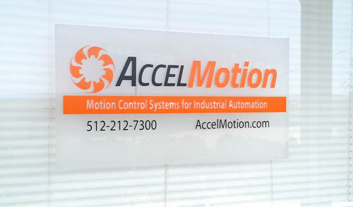 Accel Motion Window Sign